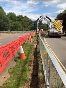 Prevision excavation with minimal traffic disruption