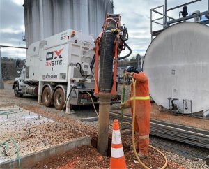Excavation around fuel storage infrastructure