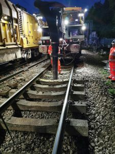 Dedicated rail suction excavator performing large scale track work